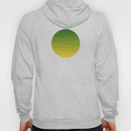 Shades of Grass - Line Gradient Pattern between Lime Green and Bright Yellow Hoody
