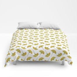 watercolour ginkgo Comforters