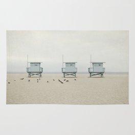 Lifeguard Towers with Birds Rug