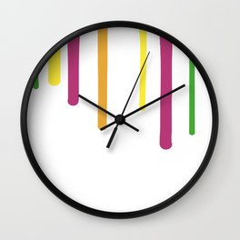 Color Drips Wall Clock