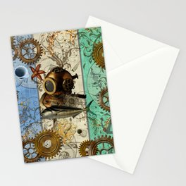 Nautical Steampunk Stationery Cards