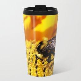 Bee on a Sunflower Travel Mug