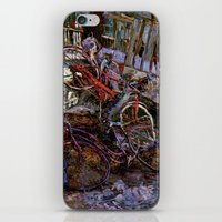 bicycles iPhone & iPod Skins featuring Bicycles by Marco Sassone