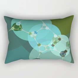 vanessa - abstract design of warm green and pale blue turquoise Rectangular Pillow
