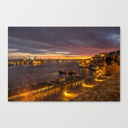 Valletta Twylight  Canvas Print