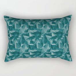 Abstract Geometrical Triangle Patterns 3 Benjamin Moore 2019 Trending Color Beau Green 2054-20 Rectangular Pillow