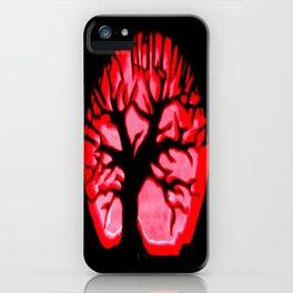 Happy halloweeN. Brain Tree Red iPhone Case