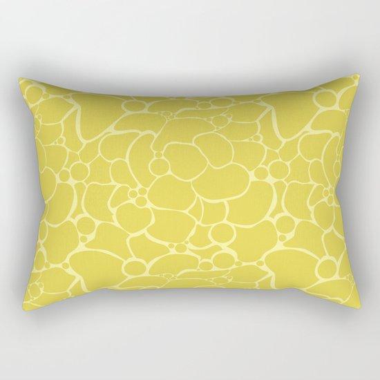Yellow creative abstract pattern . Rectangular Pillow