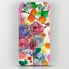 Abstract Watercolour Floral + Fruit Painting  iPhone 6 Plus Slim Case