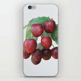 Sour Cherry, watercollor iPhone Skin