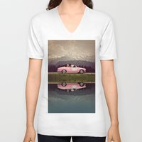 never stop exploring V-neck T-shirts featuring NEVER STOP EXPLORING VII by Monika Strigel