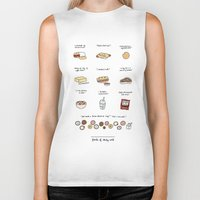 30 rock Biker Tanks featuring Foods of 30 Rock by Tyler Feder