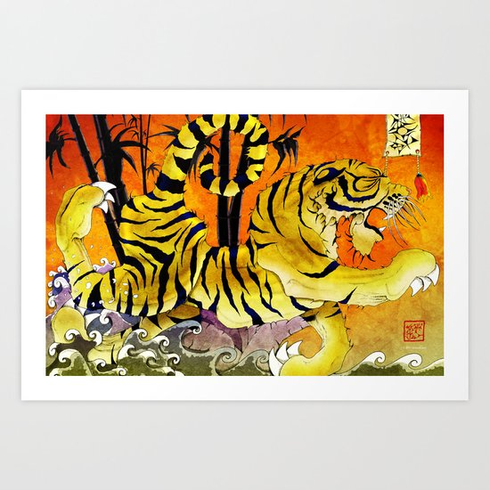 Tiger River Art Print