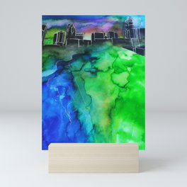 Charlotte North Carolina Watercolor Mini Art Print