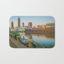 Cleveland Ohio Lake Erie View of City Bath Mat
