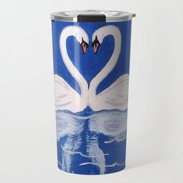 Beautiful Love Swans Travel Mug