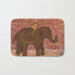 Flying Girl Receives Assistance on the Long Journey, or Elephant Spirit Bath Mat