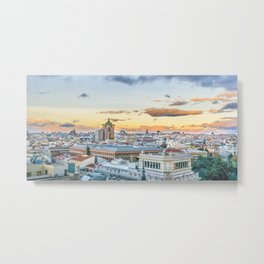 Aerial View Madrid Cityscape Metal Print