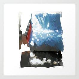 Sunny sofa Art Print
