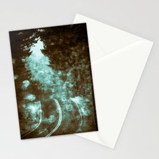 Forest Wanderlust - Adventure Road Trip in Teal Blue Green Stationery Cards