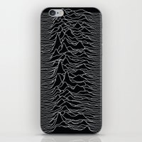 iPhone & iPod Skins featuring Unknown Radio Waves - Unknown Pleasures by Alisa Galitsyna