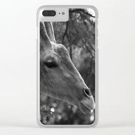 Giraffe Portrait Clear iPhone Case