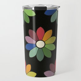 Flower pattern based on James Ward's Chromatic Circle (vintage wash) Travel Mug