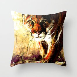 Creepin' Cougar Throw Pillow