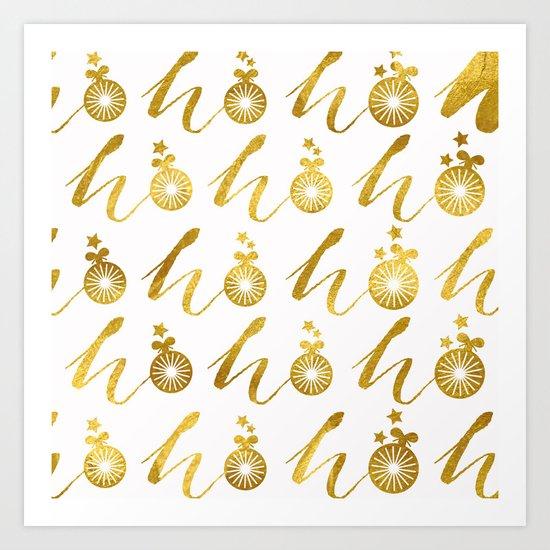 Gold Christmas 07 Art Print