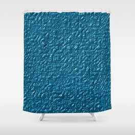 Embossed blue skin Shower Curtain