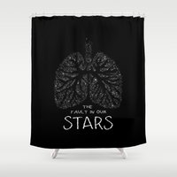 fault in our stars Shower Curtains featuring The Fault in Our Stars by Call me Calliope