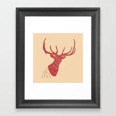 Taxidermied Elk Framed Art Print