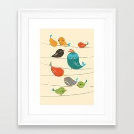 Colorful Birds Framed Art Print