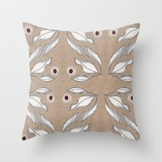 Sketch Leaves Throw Pillow