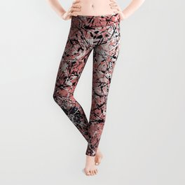 Paris - Jackson Pollock style drip painting design, Abstract art prints Leggings