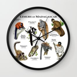 Lemurs of Madagascar Wall Clock