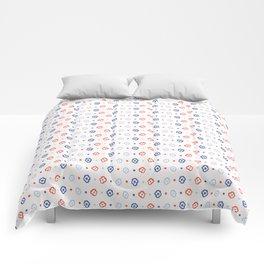 Stylized Flower Basket Seamless Pattern Comforters