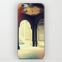 gossip girl iPhone & iPod Skins featuring Bethesda Fountain Gossip Girl by b4lt1m0re
