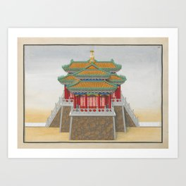 Chinese ARCHITECTURE Temple Art Print