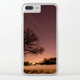 Oak in Field Clear iPhone Case