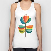 whimsical Tank Tops featuring Whimsical Bloom by Picomodi