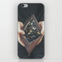 wallet iPhone & iPod Skins featuring space nebula by marzesu collages