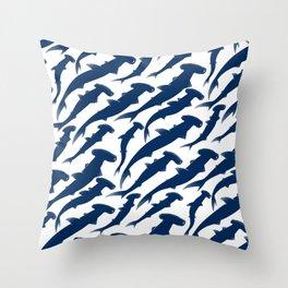 Hammerhead Shark Exodus Throw Pillow