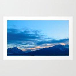Mountain Silhouette Art Print