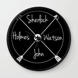 Holmes'Watson(white) Wall Clock