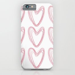 Nine Red Hearts iPhone Case