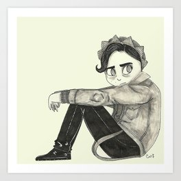 Riverdale's Jughead - Angsty Jugy - Cole Sprouse inspired Art Print