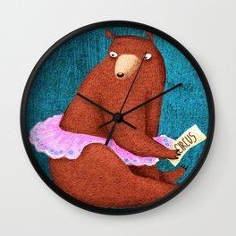 circus bear Wall Clock
