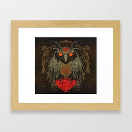 If you seek for diamonds and shiny stuff just look into owls eyes  Framed Art Print