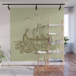 Viking ship Wall Mural